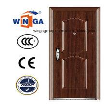 Puerta de acero de seguridad metálica de entrada de estilo Europ (WS-122)