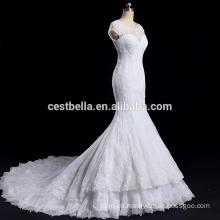 Sirena del vestido de boda del neckline del amor de la ilusión de la alta calidad