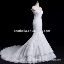 High Quality illusion sweetheart neckline wedding dress mermaid
