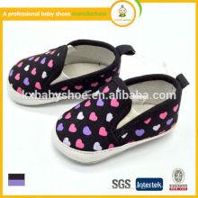 2015 los niños superventas calzan los zapatos de bebé baratos suaves de la lona