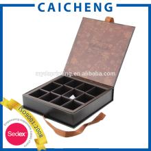 Caja de cartón de chocolate personalizada con separadores