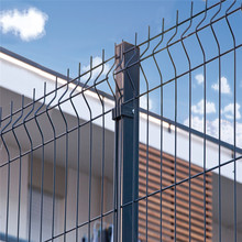 Hot Dipped Galvanized Triangle Bending Metal Wire Mesh Fence Panel