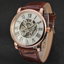 Leather belt wrist Automatic Mens Casual watches