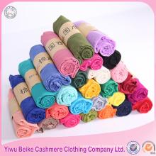 Factory price wholesale fashion lady cheap plain voile scarf