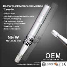 Самая новая перезаряжаемые машина терапией 12microneedle / ручка ручки Derma (ZX12-060)