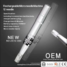 Neuestes nachladbares 12microneedle Therapie-Maschine / Derma Rollen-Feder (ZX12-060)