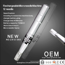 Máquina recarregável da terapia de 12microneedle / pena do rolo de Derma (ZX12-060)