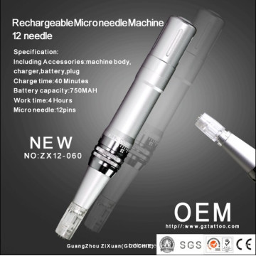 High Quality Rechargeable Microneedle Mesotherapy Machine (ZX12-60)