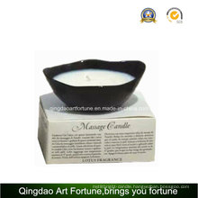 Ceramic Massage Soy Wax Candle Gift SPA
