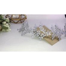 Popular de lujo CZ circón circonita brillante mujeres desfile accesorios para el cabello Prom Hairband boda Tiaras
