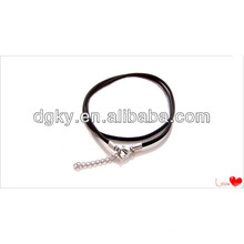 Black leather Chain Men Accessory Chain