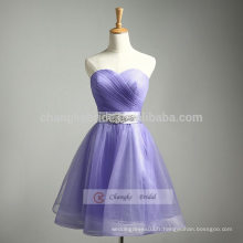 Light Purple A-Line sweetheart robe de demoiselle d'honneur robe de soirée robe de pompon