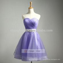 Светло-Фиолетовый-Line Без Бретелек Платье Невесты Вечернее Платье Помпон Платье
