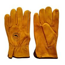Кожа зерна кожа защитные перчатки для вождения