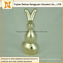 Figurine en céramique Cadeau de Pâques Sculpture en porcelaine Cadeau Décoration intérieure Forme de lapin