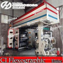 6 cores Automatic Flexo Printing Machine Central Drum