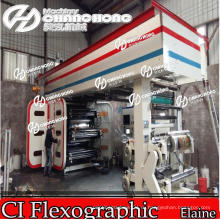 6 Цветов Автоматическая Флексографическая Печатная Машина С Центральным Барабаном