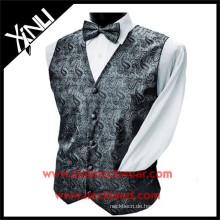 Polyester gewebte formale handgemachte Paisley-Weste