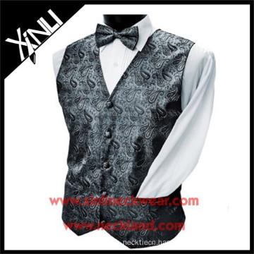 Polyester Woven Formal Handmade Paisley Vest
