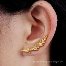 Boucles d'oreille boucles d'oreille en argent sterling à la mode Gold Wheat Design en gros EC155