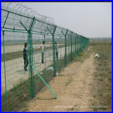 DM 3m height airport welded wire fence with concertina razor wire or three line barb wire