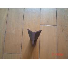Piqueta de estrella pintada de betún negro / poste de acero en forma de Y