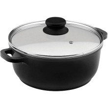 Home Basic Black Nonstick Ceramic Coated Aluminum Saucepot Induction Bottom