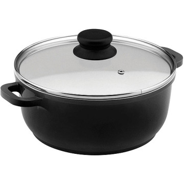 Fashion Home Basic Classic Black Nonstick Saucepot Induction Bottom