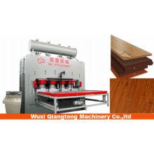 Placa de mdf hidráulica de ciclo corto laminación de prensa en caliente / hdf laminado fabricación de pisos