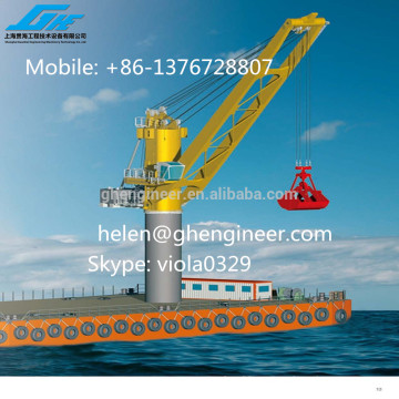 Port and Ship Crane with grab bucket, 25ton, 26ton, 30ton swl capacity