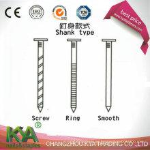 Clavos de plataforma de alambre de 15 grados para la construcción, decoración, embalaje