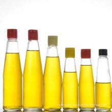 500ml Round Type Transparent Glass Beverage Water Bottles Cap/Oil Bottle/Portable Bottle/Customization Bottle