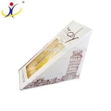 ¡Tamaño personalizado! Caja de sándwich de caja de papel disponible de alta calidad con la caja del alimento de ventana