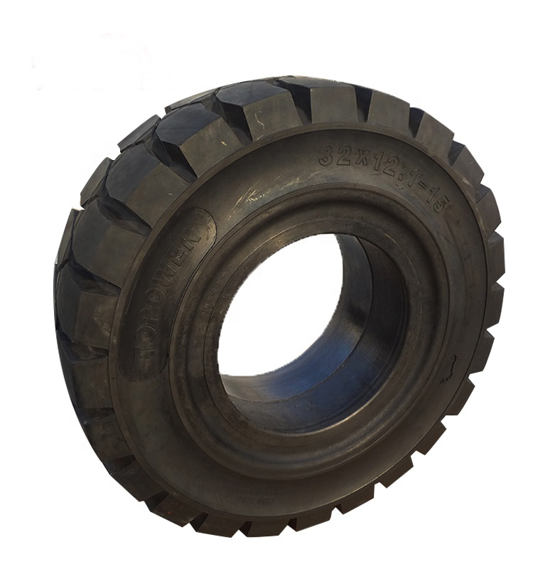 China Forklift Spare Parts Big Solid Forklift Tyre 32x12 1 15