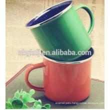custom enamel coating colorful mugs and cups & Chinese enamelware