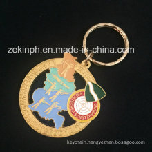 Gold Plating Keychain for Promotional Gift
