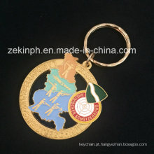 Chaveiro de chapeamento de ouro para presente relativo à promoção
