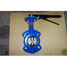 Simple And Compact Construction Two Shaft Wafer Butterfly Valve For Air, Steam, Water
