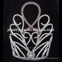 Nueva corona al por mayor del Rhinestone de los diseños, corona alta del desfile del nuevo producto de la tiara