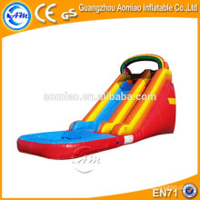 New design water slide inflatable good qualtiy PVC inflatable pool rainbow slide for sale