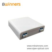 FTTH Mini 2 Ports Fiber Optical Faceplate Socket box