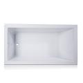 Canada Style Big Drop-in Bathtub in White