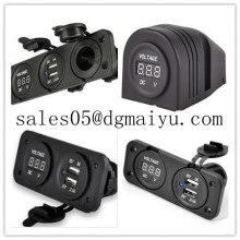 DC 12V Hot Selling Marine Grade PA66 Twin USB Socket with Dual USB Output to 5V/3.1A