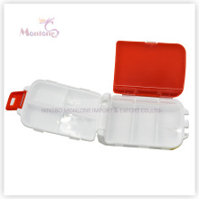 7 Grids Pill Box, Plastic Pill Box, 1 Week Pill Box, Red Pill Box