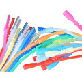 Silicone Rubber Tubing Cord Necklaces with Locking