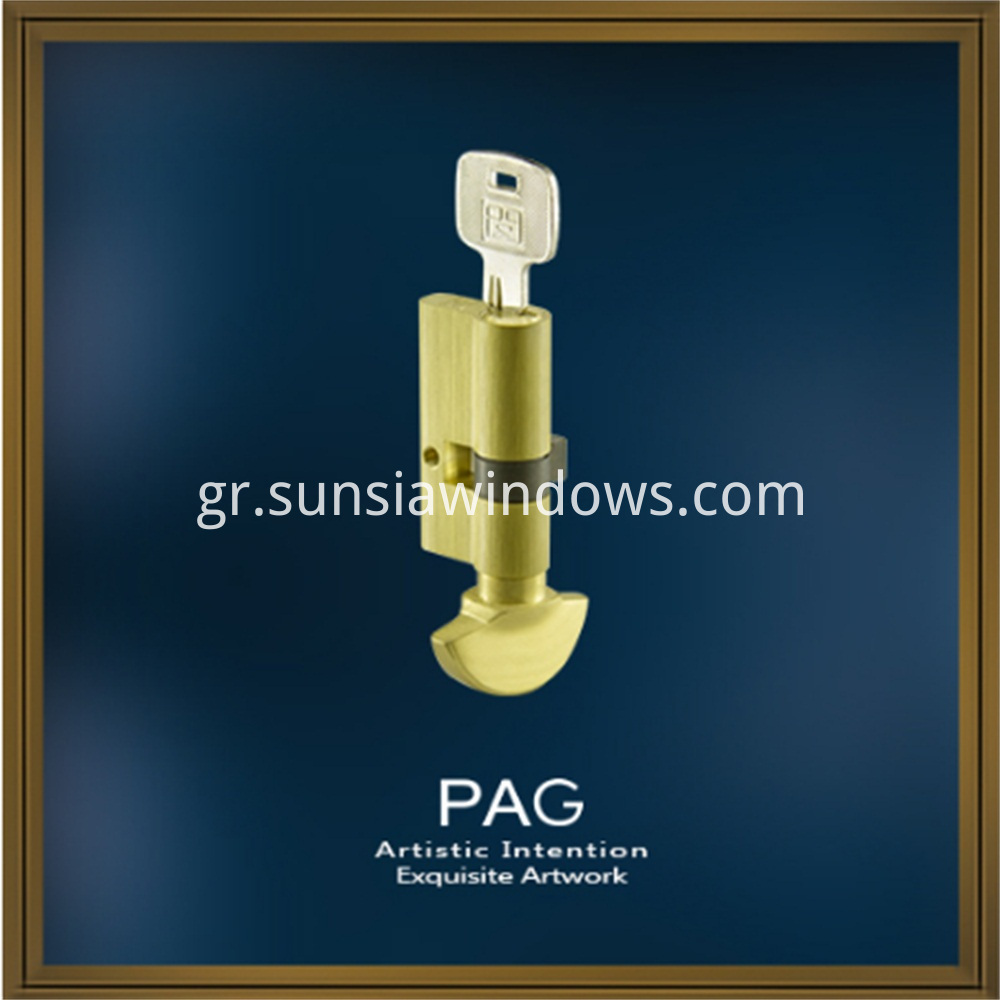 Brass Mortise Euro and Single Side Door Lock Key Cylinder