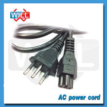 High quality 3 pin ac power cord brazil with IEC320 plug