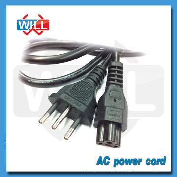 High quality 3 pin ac power cord brazil with IEC320 plug