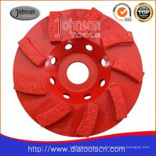 125mm Diamant Swirl Cup Rad für Beton