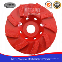 125mm Diamond Swirl Cup Wheel pour béton